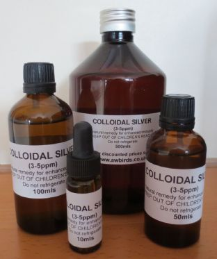 Colloidal Silver - Natural alternative to anti-biotics for birds